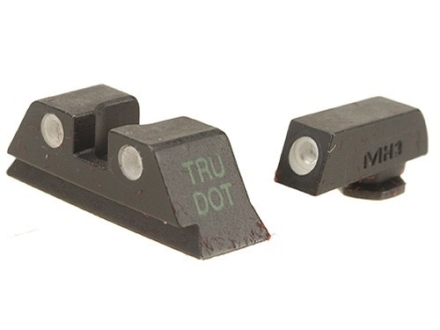 Meprolight Tru-Dot Sight Set Glock 20, 21, 29, 30, 36, 41 Steel Blue Tritium Green Front