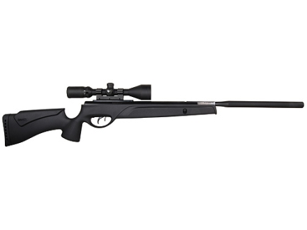 Gamo SOCOM Extreme Air Rifle 25 Caliber Black Synthetic Stock Blue Barrel with Gamo Airgun Scope 3-9x 50mm Matte