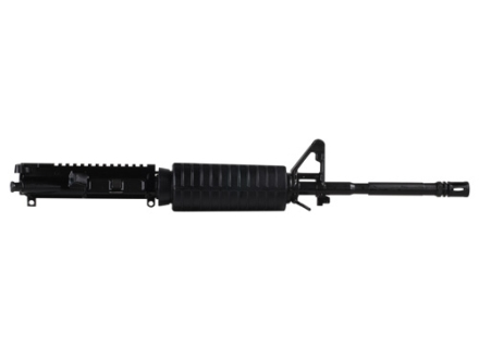 "Del-Ton AR-15 Extreme Duty A3 Flat-Top Upper Assembly 5.56x45mm NATO 1 in 7"" Twist 16"" FNH Hammer Forged M4 Contour Barrel Chrome Lined Chrome Moly Matte with CAR-Style Handguard, Flash Hider"