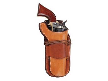 "Ross Leather Classic Leather Lined Belt Holster Right Hand Single Action 5.5"" Barrel Leather Tan"