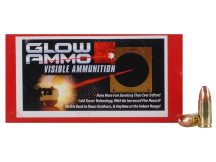 Glow Ammo Visible Ammunition 9mm Luger 124 Grain Round Nose Box of 50