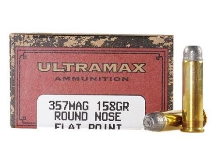 Ultramax Cowboy Action Ammunition 357 Magnum 158 Grain Lead Flat Nose Box of 50