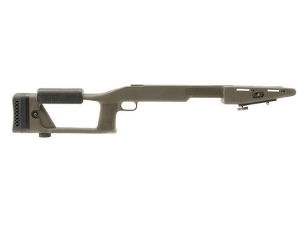 "Choate Ultimate Sniper Rifle Stock Savage 110 Series Long Action Staggered Feed Blind Magazine 1.25"" Barrel Channel Left Hand Synthetic Olive Drab"