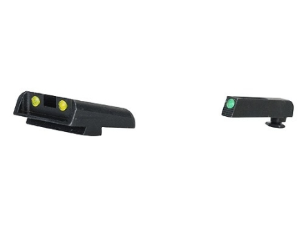 TRUGLO TFO Sight Set Glock 20, 21, 29, 30, 31, 32, 37 Steel Tritium / Fiber Optic Green Front, Yellow Rear