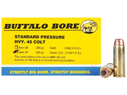 Buffalo Bore Ammunition 45 Colt (Long Colt) 200 Grain Jacketed Hollow Point Box of 20