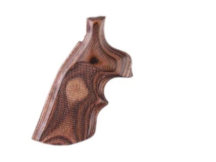 Hogue Fancy Hardwood Grips with Top Finger Groove Taurus Medium and Large Frame Revolvers Round Butt Checkered Rosewood Laminate