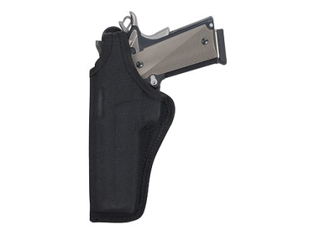 "Bianchi 7001 AccuMold Thumbsnap Holster Left Hand Colt King Cobra, Python, S&W K, L-Frame 4"" Barrel Nylon Black"