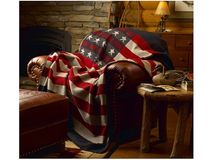 "Woolrich Elite Freedom Throw 60"" x 72"" Wool Red, White and Blue"