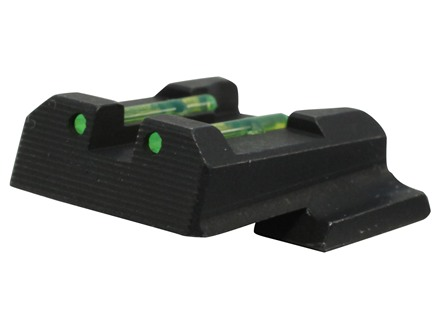 HIVIZ Rear Sight S&W M&P Shield Steel Fiber Optic