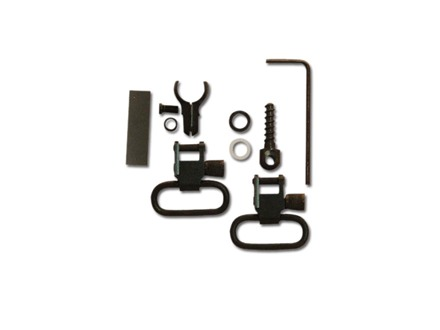 "GrovTec Barrel Band Set 2-Piece Measure to Fit .540-.590 Tube Diameter Rear Screw Swivel Stud 1"" Locking Swivels Steel Black"