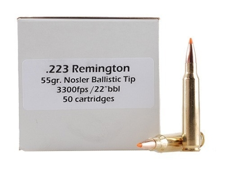 Doubletap Ammunition 223 Remington 55 Grain Nosler Ballistic Tip Box of 50
