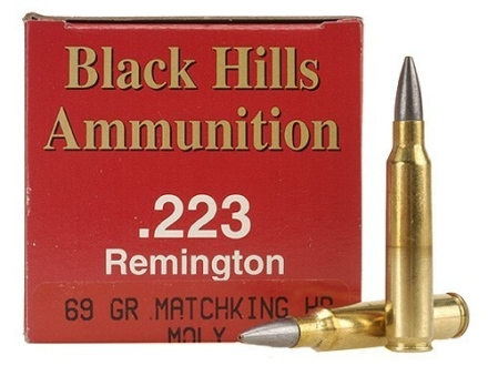 Black Hills Ammunition 223 Remington 69 Grain Sierra MatchKing Hollow Point Moly Box of 50
