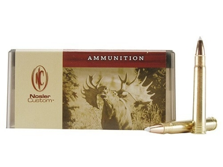 Nosler Custom Ammunition 375 H&H Magnum 260 Grain AccuBond Spitzer Box of 20