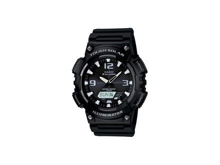 Casio Multi-Function Digital and Analog Solar Watch Resin Band Black