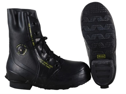 Military Surplus Mickey Mouse Boots Waterproof Insulated Rubber Black 9 D