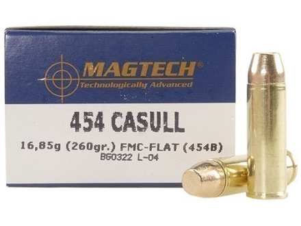Magtech Sport Ammunition 454 Casull 260 Grain Full Metal Jacket Box of 20