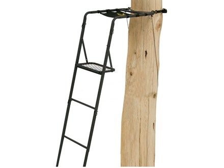 Rivers Edge Pack-N-Stack Single Ladder Treestand Steel Black