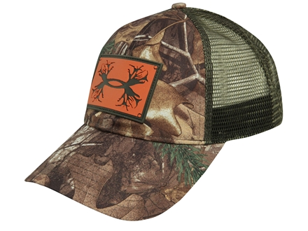 Under Armour Camo Patch Mesh Back Cap Polyester Realtree Xtra and Rodeo Orange