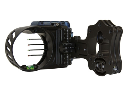"IQ Bowsight with Retina Lock 4-Pin Bow Sight .019"" Pin Diameter Left Hand Aluminum Black"