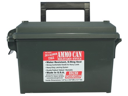 MTM Ammunition Can Tall 30 Caliber Plastic