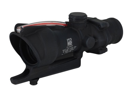 Trijicon ACOG TA31 BAC Rifle Scope 4x 32mm Dual-Illuminated Red Triangle 223 Remington Reticle with Carry Handle Flattop Mount Matte