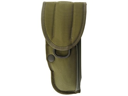 "Bianchi UM92-2 Universal Military Holster with Trigger Shield Large Frame Semi-Automatic 4"" Barrel Nylon Olive Drab"