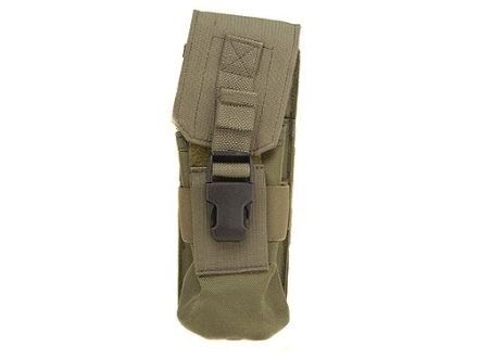 Buffer Technologies MagCinch Double Magazine Pouch AR-15 MOLLE Compatible 30-Round Nylon Olive Drab