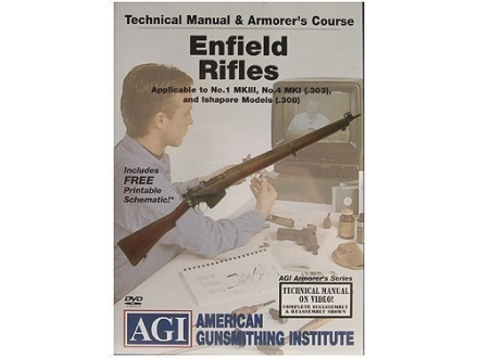"American Gunsmithing Institute (AGI) Technical Manual & Armorer's Course Video ""Enfield Rifles"" DVD"