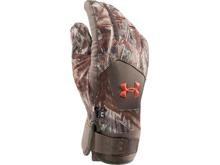 Under Armour UA Primer Waterproof Insulated Gloves Polyester Mossy Oak Duck Blind Camo XL