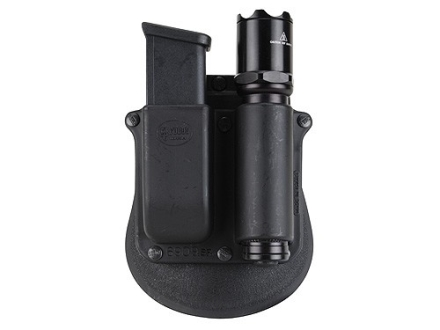 Fobus Paddle Single Magazine Pouch Double Stack 9mm, 40 S&W Magazine with SureFire 3P, 6P, 9P, D1, D2, E1, E2 Polymer Black