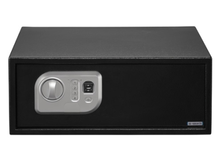 Stack-On Extra Wide Personal Safe with Biometric Lock Black