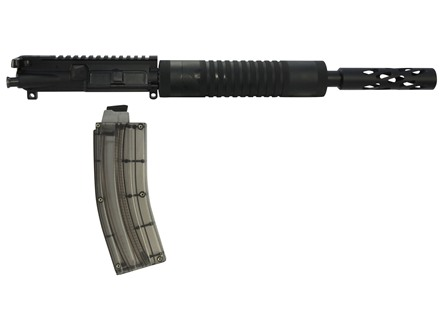 "Tactical Solutions AR-15 A4 SBX Flat-Top Conversion Upper Assembly 22 Long Rifle 1 in 16"" Twist 16.5"" SBX Barrel Aluminum Black with Hogue Free Float Handguard, Threaded Muzzle, 25-Round Magazine"