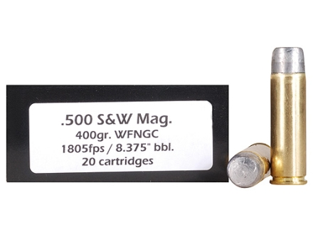 Doubletap Ammunition 500 S&W Magnum 400 Grain Hardcast Solid Wide Flat Nose Gas Check Box of 20