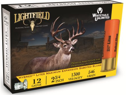 "Lightfield Hybred Lites Ammunition 12 Gauge 2-3/4"" 1-1/4 oz Sabot Slug Box of 5"