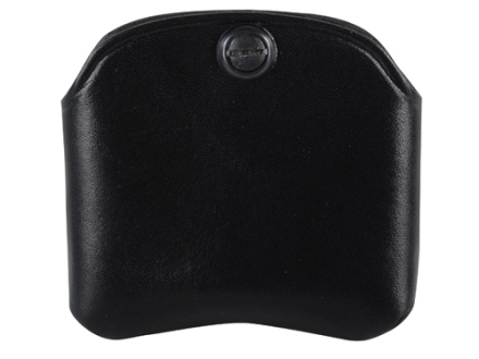 El Paso Saddlery Double Magazine Pouch Single Stack Magazine Leather Black