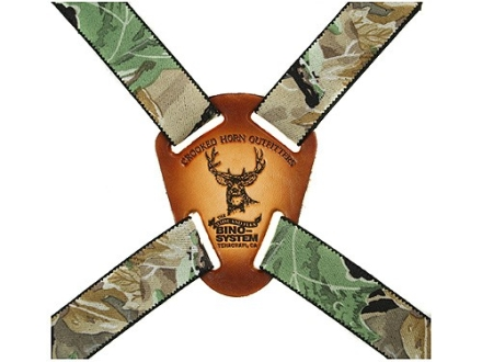 Crooked Horn Slide and Flex Binocular Strap Harness Realtree Hardwoods Green Camo