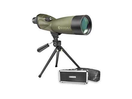 Barska Blackhawk Spotting Scope 20-60x 60mm with Tripod and Hard Case Rubber Armored Green