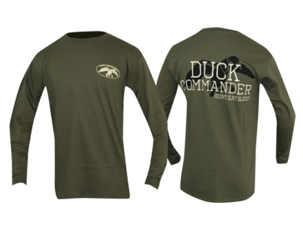 Duck Commander Hunt Eat Sleep T-Shirt Long Sleeve Cotton Moss Large 41-43