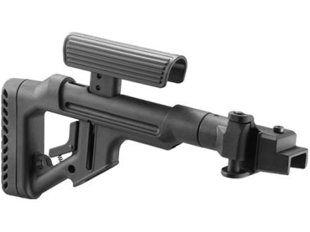 Mako Tactical Side Folding Buttstock with Adjustable Cheek Rest Metal Joint AK-47, AK-74 Polymer Black