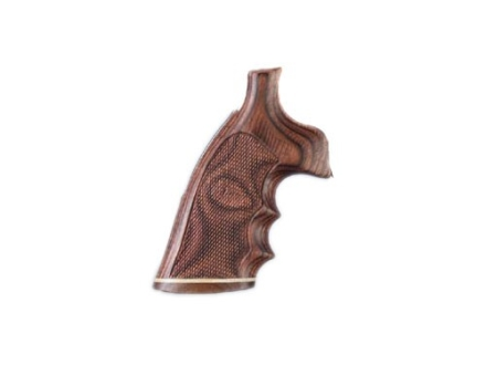 Hogue Fancy Hardwood Grips with Accent Stripe, Finger Grooves and Contrasting Butt Cap Taurus Medium and Large Frame Revolvers Square Butt Checkered Rosewood Laminate