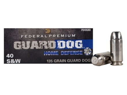 Federal Premium Guard Dog Home Defense Ammunition 40 S&W 135 Grain Expanding Full Metal Jacket Box of 20