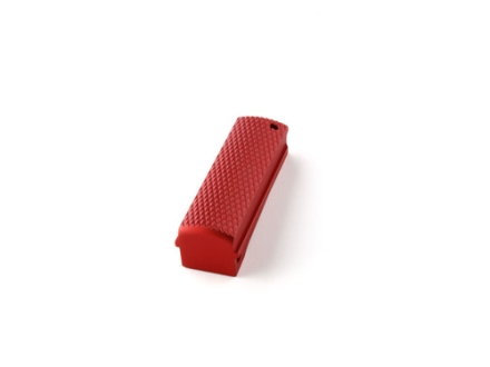 Hogue Mainspring Housing Flat 1911 Officer Checkered Aluminum Matte Red