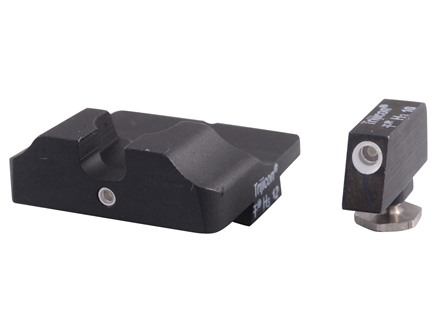 Warren Tactical Night Sight Set Glock 17, 19, 22, 23, 24, 34, 35 1-Dot Tritium Tactical Rear, 1-Dot Tritium Front Steel Matte