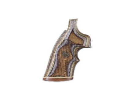Hogue Fancy Hardwood Grips with Accent Stripe and Top Finger Groove Taurus Medium and Large Frame Revolvers Square Butt Checkered Lamo Camo