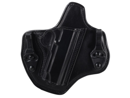 Bianchi Allusion Series 135 Suppression Tuckable Inside the Waistband Holster Right Hand 1911 Commander Leather Black