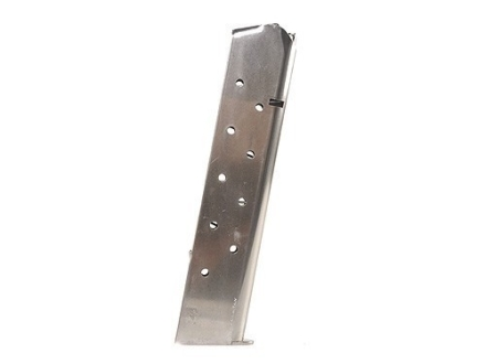 Mec-Gar Magazine 1911 Government, Commander 45 ACP 11-Round Steel Nickel Plated