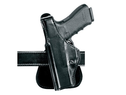Safariland 518 Paddle Holster Left Hand 1911 Officer, Kahr K9, K40, P9, P40, MK9, MK40 Laminate Black