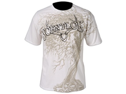 Scent-Lok Men's Tree Skull T-Shirt Short Sleeve Cotton White Medium 38-40