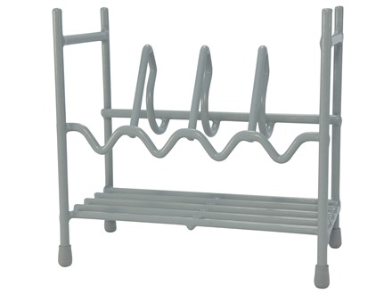 HySkore Four Gun Pistol Rack Vinyl Coated Metal Gray
