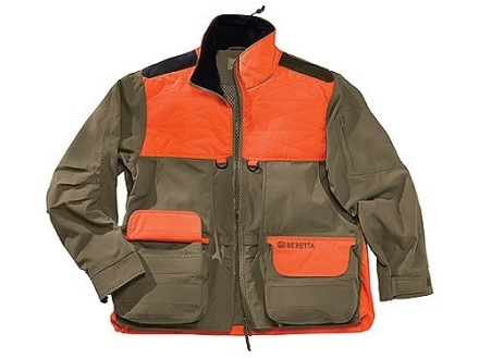 Beretta Men's Cordura Field Jacket Cotton and Cordura Tan and Blaze Orange Large 43-45